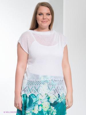 Джемпер Milana Style. Цвет: белый