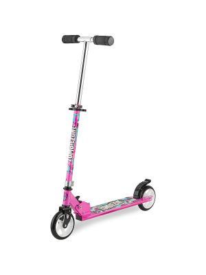 Самокат городской Foxx Zomby Zone алюм сталь PU колеса 145мм ABEC-7. Цвет: розовый