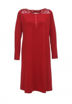 Сорочка ночная Relax Mode. Цвет: красный