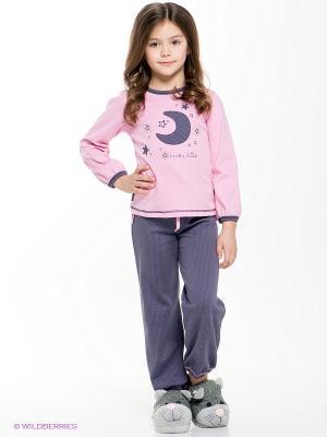 Пижама для девочки Lucky Child. Цвет: лиловый, розовый