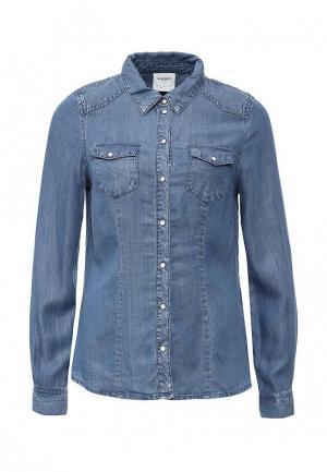 Рубашка джинсовая Vero Moda. Цвет: голубой