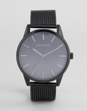 UNKNOWN Часы с черным сетчатым ремешком Urban. Цвет: черный