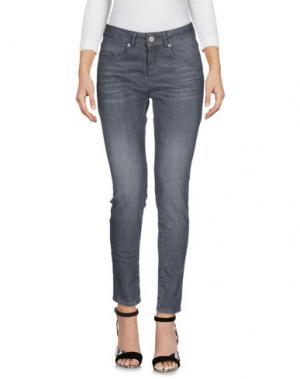 Джинсовые брюки ZAPA. Цвет: серый