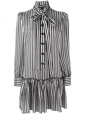 Платье-рубашка в полоску Marc Jacobs. Цвет: белый