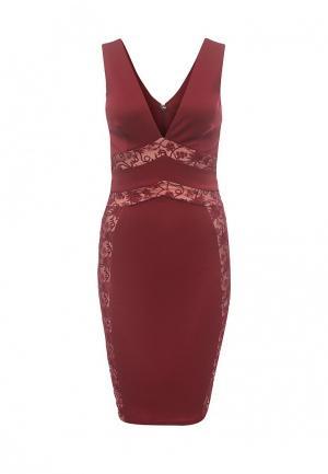 Платье City Goddess. Цвет: бордовый