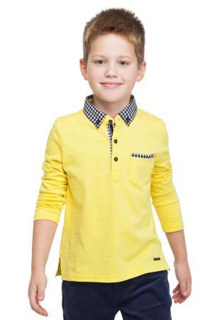 Рубашка-поло VILATTE. Цвет: желтый