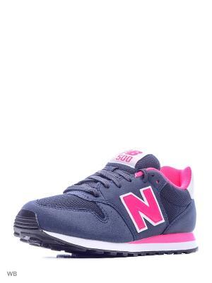 Кроссовки NEW BALANCE 500. Цвет: темно-синий, розовый