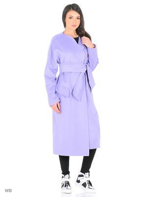 Пальто Dasha Gauser. Цвет: сиреневый