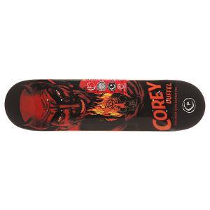 Дека для скейтборда  Duffel Horror Black/Orange/Red 31.5 x 8.0 (20.3 см) Foundation. Цвет: красный,оранжевый,черный