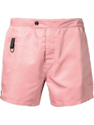 Классические шорты для плавания Timo Trunks. Цвет: розовый и фиолетовый