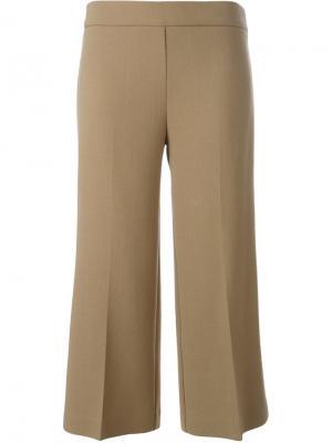 Укороченные расклешенные брюки P.A.R.O.S.H.. Цвет: телесный