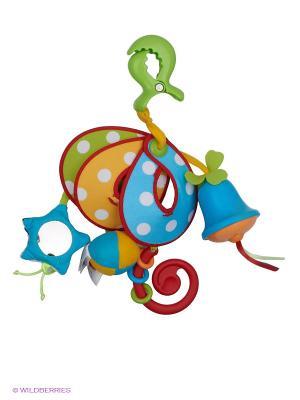 ВЕСЕЛАЯ КАРУСЕЛЬ - Механический подвес на коляску комплектация TRAVEL Tiny Love. Цвет: голубой, красный, зеленый