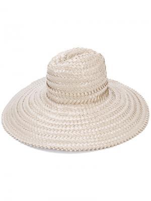 Плетеная шляпа Gigi Burris Millinery. Цвет: серый