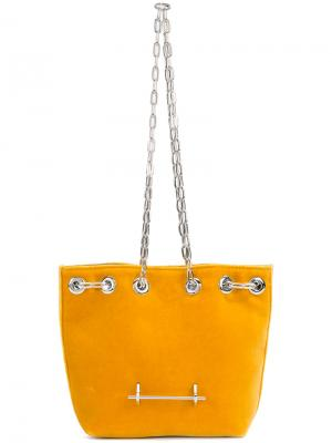 Сумка через плечо M017 M2malletier. Цвет: жёлтый и оранжевый