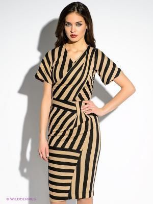 Платье Just Cavalli. Цвет: черный, светло-коричневый