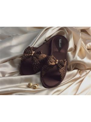 Домашняя обувь Petit Pas. Цвет: коричневый