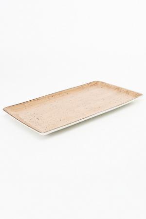 Тарелка, 28,5х16,5 см CONTINENTAL. Цвет: коричневый