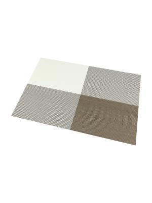 Набор 4-х салфеток Бело-бежевые Elan Gallery. Цвет: бежевый, белый