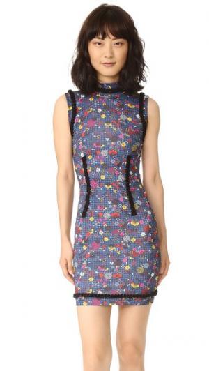 Платье Tanami из эластичного джерси KENZO. Цвет: павлин