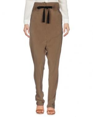 Повседневные брюки ISABEL BENENATO. Цвет: хаки