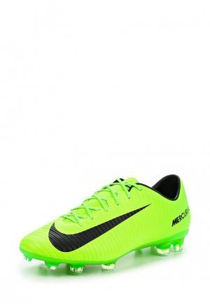 Бутсы Nike. Цвет: зеленый