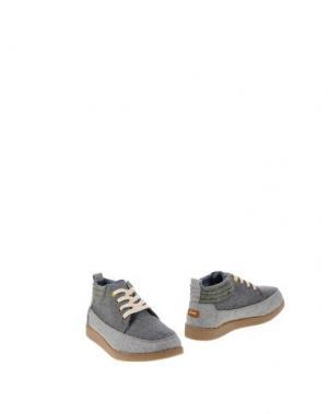 Полусапоги и высокие ботинки PAEZ. Цвет: свинцово-серый