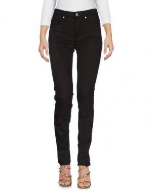 Джинсовые брюки BLUE LUXURY. Цвет: темно-коричневый