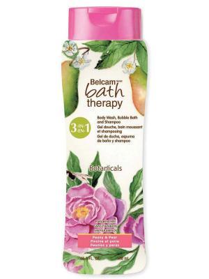 Шампунь, Гель Для Душа, Пена Ванны Пион и Груша 3-в-1 NEW Bath Therapy. Цвет: прозрачный