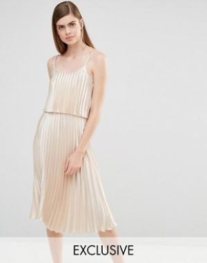 True Violet Платье миди 2 в 1. Цвет: золотой