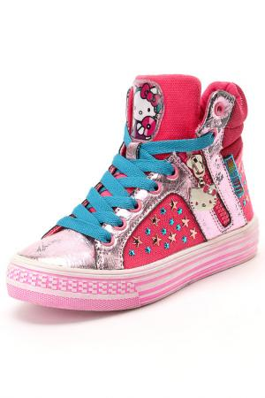 Ботинки Hello Kitty. Цвет: розовый