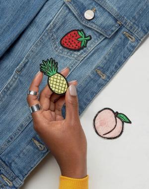 Skinnydip Термонашивки с фруктами. Цвет: мульти