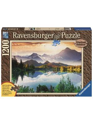 Пазл Солнце в горах  1200шт, с деревянным покрытием Ravensburger. Цвет: синий