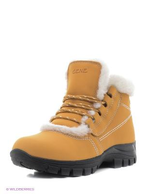 Ботинки Gene. Цвет: желтый