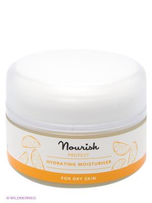 Защитный увлажняющий крем для сухой кожи,50 мл Nourish. Цвет: прозрачный
