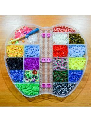 Набор резинок для плетения 4000 станок большой крючок Loom Bands. Цвет: прозрачный