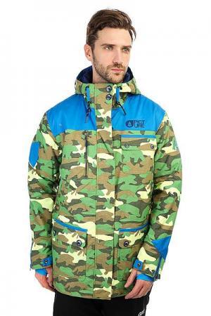 Куртка утепленная  Rock Camo Khaki Print Picture Organic. Цвет: зеленый,коричневый,черный,камуфляжный