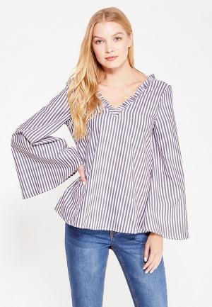 Блуза LOST INK. Цвет: серый
