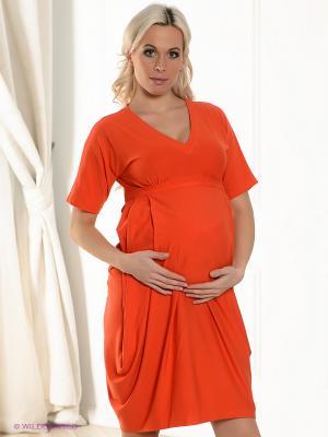 Платье UNIOSTAR. Цвет: оранжевый