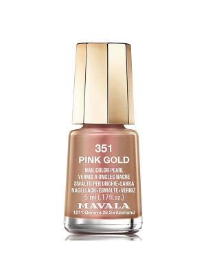 Лак для ногтей тон 351 Pink Gold Mavala. Цвет: бронзовый