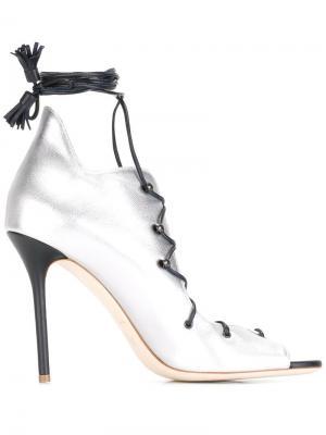 Туфли Savannah Malone Souliers. Цвет: серый