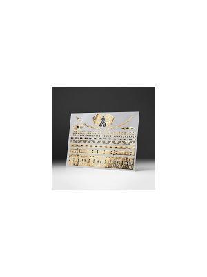 Золотая временная переводная тату Гетсби-кулон МнеТату. Цвет: золотистый