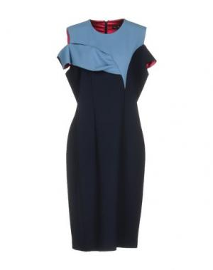 Платье до колена IVAN MONTESI. Цвет: темно-синий