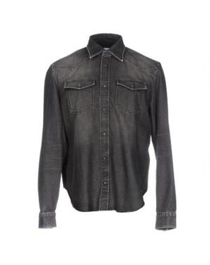 Джинсовая рубашка MAISON MARGIELA. Цвет: серый