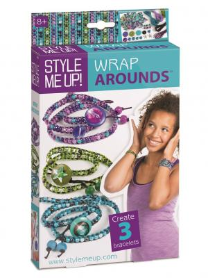 Набор для создания браслетов, с бусинками и стразами STYLE ME UP. Цвет: зеленый, белый, темно-фиолетовый