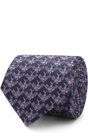 Шелковый галстук с узором Lanvin. Цвет: сиреневый