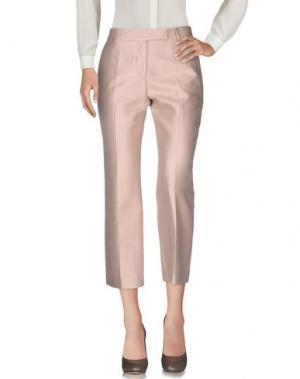 Повседневные брюки TRUE ROYAL. Цвет: светло-розовый