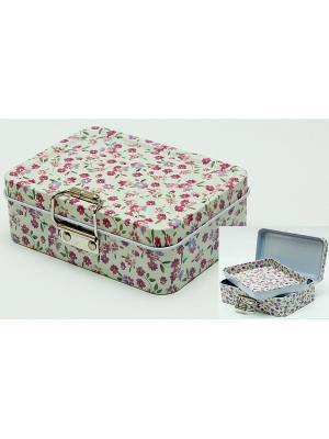 Коробка для безделушек и мелочей Полевые цветы Magic Home. Цвет: белый