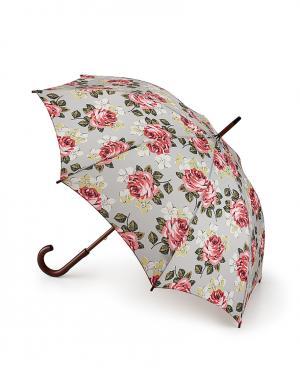 Зонт-трость Розы  by Fulton Cath Kidston. Цвет: серый