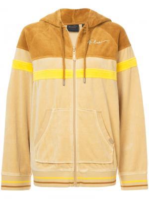 Спортивная куртка с капюшоном Fenty X Puma. Цвет: жёлтый и оранжевый