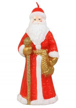 Новогодняя свеча Russian Elka. Цвет: красный (красный, белый, золотой)